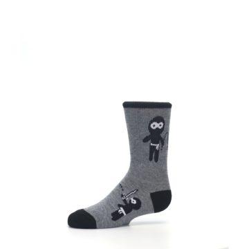 Image of Gray Ninja Warrior Kid's Dress Socks (side-2-10)