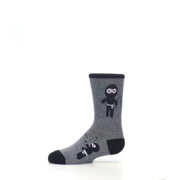 Image of Gray Ninja Warrior Kid's Dress Socks (side-2-11)