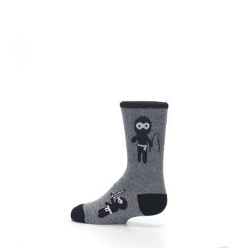 Image of Gray Ninja Warrior Kid's Dress Socks (side-2-13)