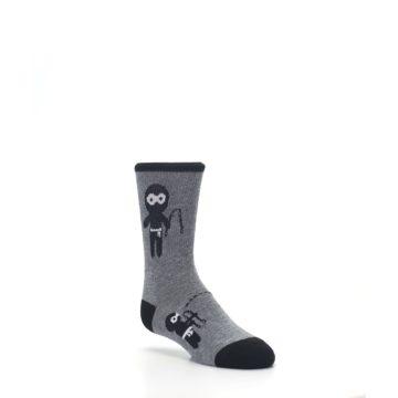 Image of Gray Ninja Warrior Kid's Dress Socks (side-1-27)