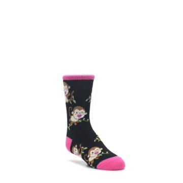 3-6Y-Black-Pink-Monkey-Kids-Dress-Socks-K-Bell