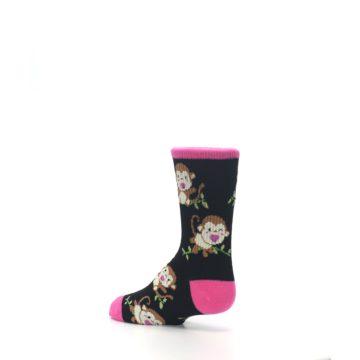 Image of Black Pink Monkey Kid's Dress Socks (side-2-back-14)