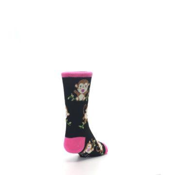 Image of Black Pink Monkey Kid's Dress Socks (side-1-back-20)