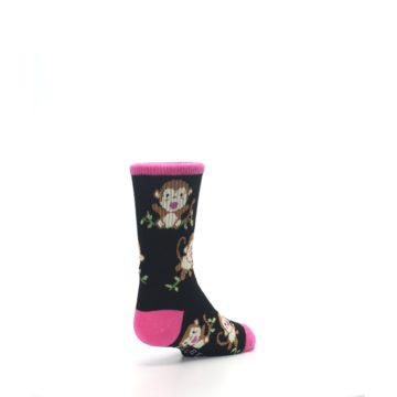 Image of Black Pink Monkey Kid's Dress Socks (side-1-back-21)