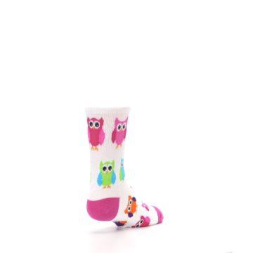 Image of White Multi Owls Kid's Dress Socks (side-1-back-21)