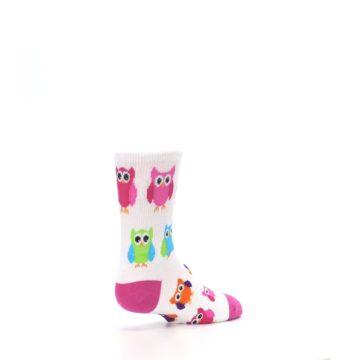 Image of White Multi Owls Kid's Dress Socks (side-1-back-22)