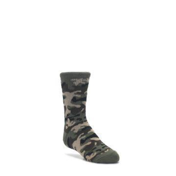 3-6Y-Green-Camo-Kids-Dress-Socks-K-Bell