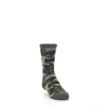 Image of Green Camo Kid's Dress Socks (side-1-front-02)