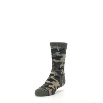 Image of Green Camo Kid's Dress Socks (side-2-front-07)