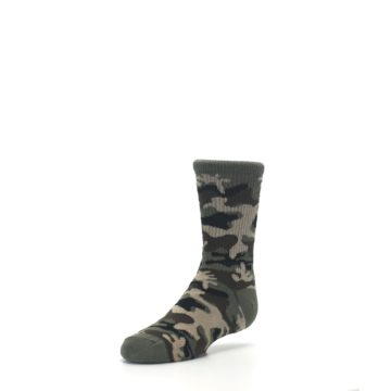 Image of Green Camo Kid's Dress Socks (side-2-front-08)