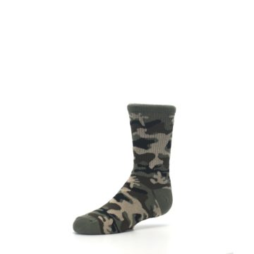 Image of Green Camo Kid's Dress Socks (side-2-09)
