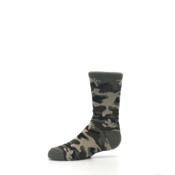 Image of Green Camo Kid's Dress Socks (side-2-10)