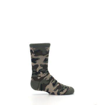 Image of Green Camo Kid's Dress Socks (side-1-24)