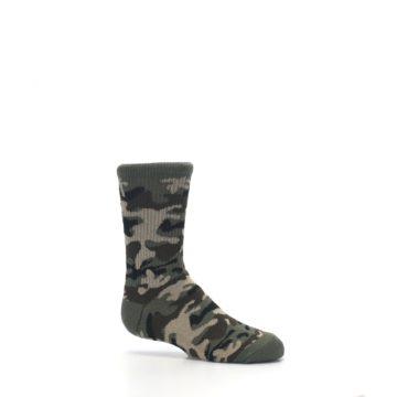Image of Green Camo Kid's Dress Socks (side-1-25)
