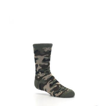 Image of Green Camo Kid's Dress Socks (side-1-26)