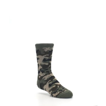 Image of Green Camo Kid's Dress Socks (side-1-27)