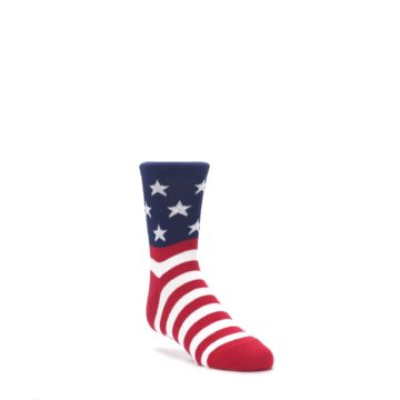 3-6Y-Red-White-Blue-American-Flag-Kids-Dress-Socks-K-Bell