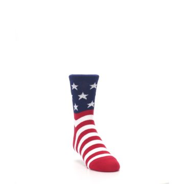 Image of Red White Blue American Flag Kid's Dress Socks (side-1-front-02)