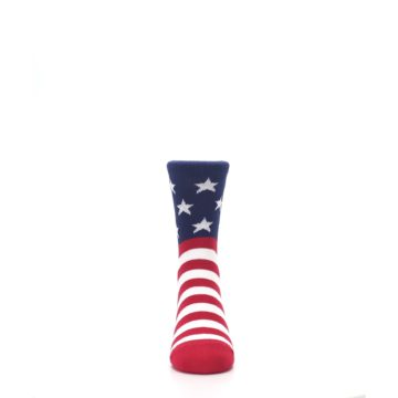 Image of Red White Blue American Flag Kid's Dress Socks (front-04)