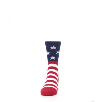 Image of Red White Blue American Flag Kid's Dress Socks (front-05)