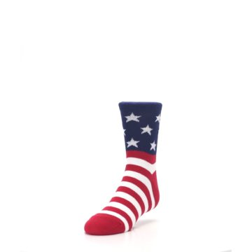 Image of Red White Blue American Flag Kid's Dress Socks (side-2-front-07)