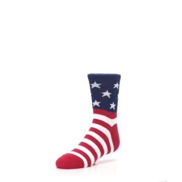 Image of Red White Blue American Flag Kid's Dress Socks (side-2-front-08)