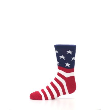 Image of Red White Blue American Flag Kid's Dress Socks (side-2-11)