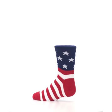 Image of Red White Blue American Flag Kid's Dress Socks (side-2-13)