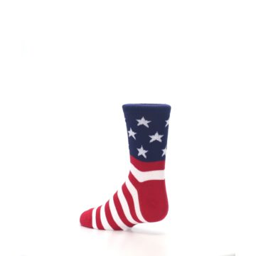 Image of Red White Blue American Flag Kid's Dress Socks (side-2-back-14)