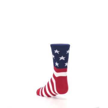 Image of Red White Blue American Flag Kid's Dress Socks (side-2-back-15)