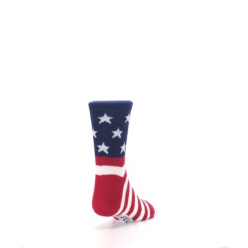 Image of Red White Blue American Flag Kid's Dress Socks (side-1-back-20)