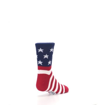 Image of Red White Blue American Flag Kid's Dress Socks (side-1-back-21)