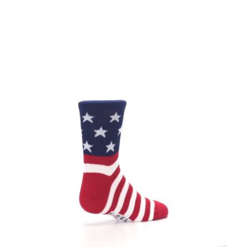 Image of Red White Blue American Flag Kid's Dress Socks (side-1-back-22)
