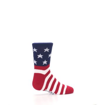 Image of Red White Blue American Flag Kid's Dress Socks (side-1-23)