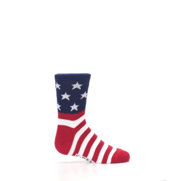 Image of Red White Blue American Flag Kid's Dress Socks (side-1-24)