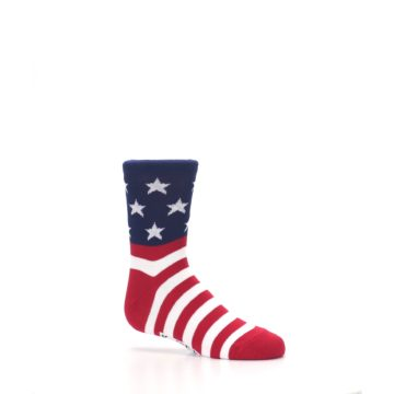 Image of Red White Blue American Flag Kid's Dress Socks (side-1-25)