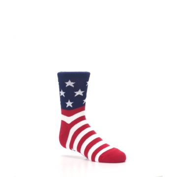 Image of Red White Blue American Flag Kid's Dress Socks (side-1-26)