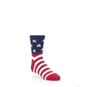 Image of Red White Blue American Flag Kid's Dress Socks (side-1-27)