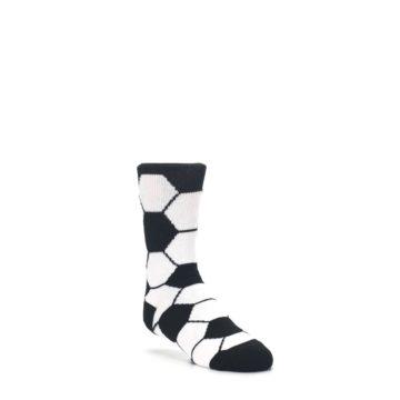 Black-White-Soccer-Ball-Kids-Dress-Socks-K-Bell