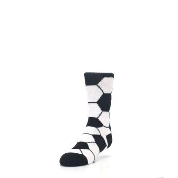 Image of Black White Soccer Ball Kid's Dress Socks (side-2-front-07)