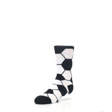 Image of Black White Soccer Ball Kid's Dress Socks (side-2-front-08)
