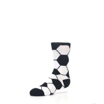 Image of Black White Soccer Ball Kid's Dress Socks (side-2-09)
