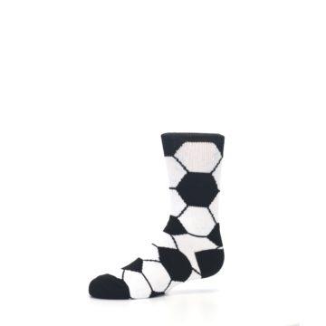 Image of Black White Soccer Ball Kid's Dress Socks (side-2-10)