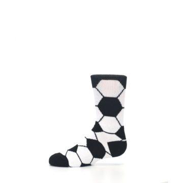 Image of Black White Soccer Ball Kid's Dress Socks (side-2-11)