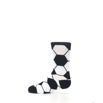 Image of Black White Soccer Ball Kid's Dress Socks (side-2-12)