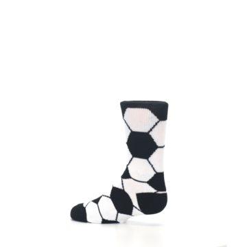 Image of Black White Soccer Ball Kid's Dress Socks (side-2-13)
