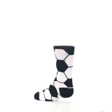 Image of Black White Soccer Ball Kid's Dress Socks (side-2-back-14)