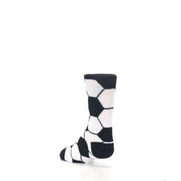 Image of Black White Soccer Ball Kid's Dress Socks (side-2-back-15)