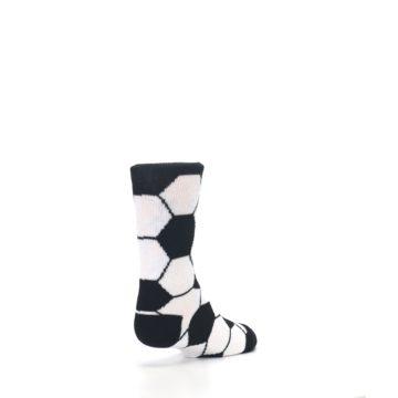 Image of Black White Soccer Ball Kid's Dress Socks (side-1-back-21)