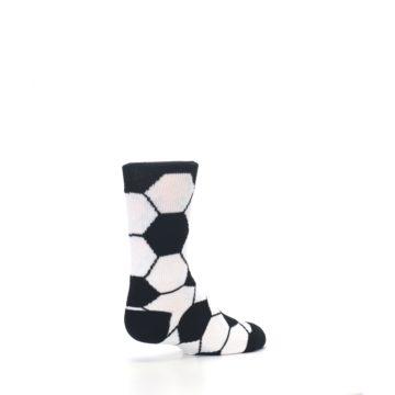 Image of Black White Soccer Ball Kid's Dress Socks (side-1-back-22)